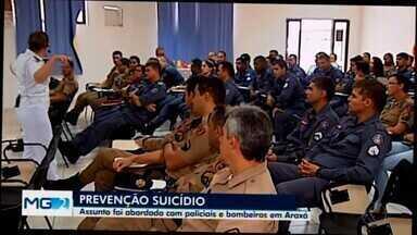 Palestra sobre prevenção ao suicídio é realizada em Araxá - Encontro foi realizado no batalhão da Polícia Militar. Abordagem sobre o assunto é importante, se precisar conversar com o alguém, o Centro de Valorização da Vida é um canal de ajuda e apoio através do 188.