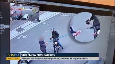 Moradores reclamam da violência em bairros nobres de Curitiba - Assaltos são frequentes no Bigorrilho, Campina do Siqueira e Batel.
