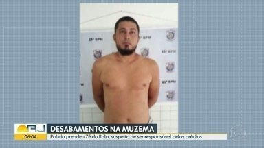 Polícia prende suspeito de ser responsável por prédios que desabaram na Muzema - José Bezerra de Lira, o Zé do Rolo, foi preso em Pernambuco. Ele estava com duas espingardas e munições.