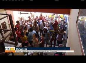 Falta de abastecimento de água compromete cidades do Leste de Minas - Moradores protestam pela falta da água em Guanhães. Seis cidades do Vale do Rio Doce sofrem com a estiagem.