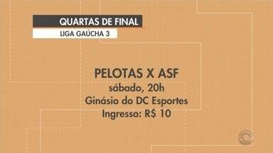 Pelotas tem jogo decisivo pelas Liga Gaúcha de Futsal - Equipe enfrenta a ASF pelas quartas de final da competição.