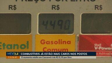 Reajuste no preço do combustível espanta consumidores - No primeiro dia dos novos preços, o movimento nos postos de Cascavel foi pequeno.