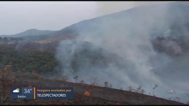 Pelo menos 50 hectares de vegetação foram consumidos pelo fogo em Juiz de Fora - Os bombeiros de Juiz de Fora controlaram neste sábado o fogo que atingiu a região da Serrinha, próximo ao Parque Estadual do Ibitipoca.