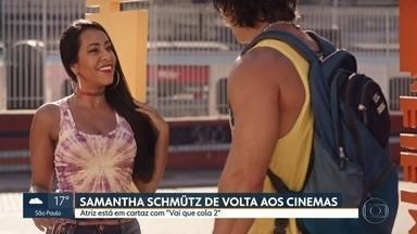 """Samantha Schmütz fala sobre o filme """"Vai que cola 2"""" - Depois do sucesso do primeiro filme, """"Vai que cola 2"""" mostra a origem dos personagens da série."""
