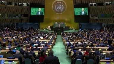 Líderes mundiais se reúnem na Assembleia-Geral da ONU, em Nova York - Cúpula do clima discute economia sustentável. Bolsonaro faz discurso de abertura da Assembleia Geral.