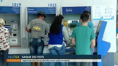 Agências da Caixa vão abrir mais cedo nessa sexta-feira (27) - É para atender os correntistas que querem sacar o FGTS.