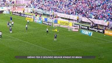 Em boa fase, Grêmio tem o segundo melhor ataque do Brasil - Assista ao vídeo.
