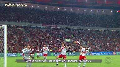 Com dois expulsos, Inter leva 3 a 1 do líder Flamengo - Assista ao vídeo.