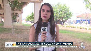 5kg de cocaína foram apreendidos pela PRF em Ji-Paraná - 5kg de cocaína foram apreendidos pela PRF em Ji-Paraná