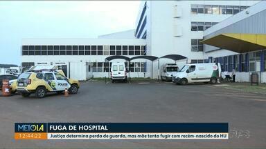 Mãe tenta fugir com recém-nascido de hospital - Caso foi registrado no HU de Ponta Grossa.