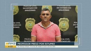 Professor é preso suspeito de estuprar duas alunas em Careiro da Várzea - As vítimas tinham 10 anos de idade e eram alunas dele.