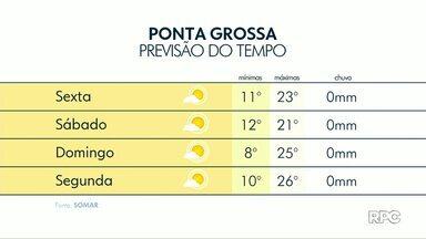 Massa de ar seco predomina sobre a região dos Campos Gerais nesta sexta-feira (27) - Confira a previsão do tempo.