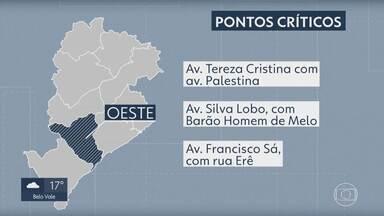 PBH e Defesa Civil ampliam sistema para emissão de mensagens de alerta de alagamentos - A Prefeitura de Belo Horizonte e a Defesa Civil ampliaram o sistema de emissão de alertas durante o período chuvoso. A intenção é manter a população informada sobre pontos onde há alagamentos e sobre as áreas consideradas de risco para inundação
