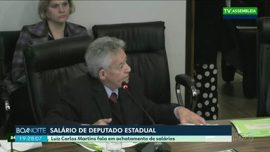 Veja a fala do deputado estadual Luiz Carlos Martins sobre a publicidade de salários - Ele disse que não reclamou do salário de R$ 25 mil reais.