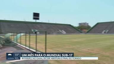 Faltam 30 dias para a Copa do Mundo Sub-17 e o Bezerrão passa por melhorias - O Estádio Bezerrão receberá 18 jogos da competição, incluindo a abertura e a final.