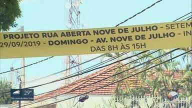 Avenida Nove de Julho recebe atrações gratuitas pelo projeto 'Rua Aberta' em Ribeirão - Via ficará liberada somente para pedestres das 8h às 15h no domingo (29).