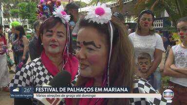 Festival Internacional de Palhaços agita Mariana - São várias atrações de graça para crianças e adultos, no centro histórico da cidade.