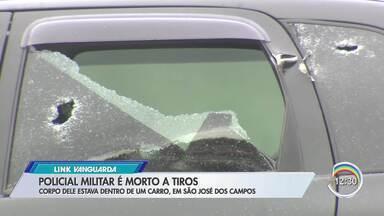 PM é morto a tiros dentro de carro em São José dos Campos - Segundo polícia, crime aconteceu na rua Áustria durante a manhã. Vítima era membro da equipe da Força Tática do 46° Batalhão da PM.