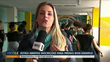 Bom exemplo premia iniciativas em todo Paraná - Inscrições estão abertas até 3 de outubro.