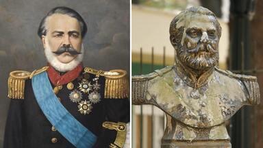 Quem são as personalidades por trás das estátuas de rua de Curitiba? - A apresentadora Daiane Fardin se transformou em uma estátua por um dia