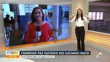 Mulher que ganhou destaque no Caldeirão do Huck fica famosa em Sobral - Saiba mais em g1.com.br/ce