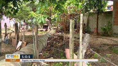 Moradores de Linhares, ES, reclamam de problema com esgoto no bairro Aviso - Saae afirma que as ligações mostradas na reportagem são clandestinas.