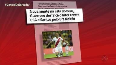 Paolo Guerrero desfalca o Inter em duas rodadas do Brasileiro - Atacante foi convocado para amistosos da seleção do Peru.