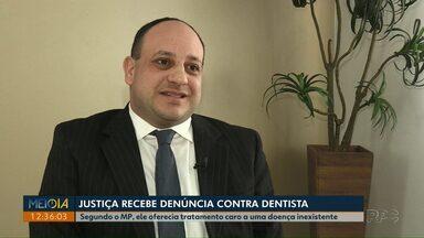 Meio-dia Paraná entrevista dentista de Ponta Grossa denunciado à Justiça - De acordo com o Ministério Público, o dentista Murilo Postiglione Neme oferecia tratamento caro para doença inexistente, a defesa do dentista nega as acusações.