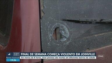 Duas pessoas são mortas em menos de 8 horas em Joinville - Duas pessoas são mortas em menos de 8 horas em Joinville