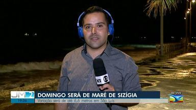São Luís terá a maior maré do ano neste domingo (29) - Ao vivo, o repórter Olavo Sampaio dá mais informações.