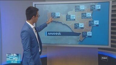 Veja como ficará o tempo em todas as regiões de SC neste domingo (29) - Veja como ficará o tempo em todas as regiões de SC neste domingo (29)