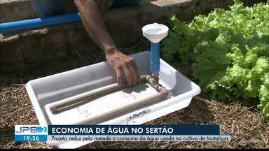 Projeto reduz pela metade o consumo da água usada no cultivo de hortaliças, no Sertão - Confira os detalhes na reportagem de Waléria Assunção.