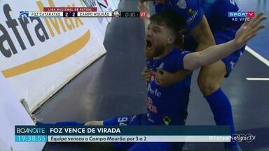 Foz vence o Campo Mourão de virada - Jogo era válido pela Liga Nacional de Futsal