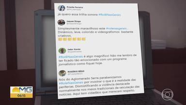 """Programa faz sucesso na TV e na internet - O """"Rolê nas Gerais"""" está fazendo o maior sucesso na tela da Globo e nas redes sociais."""