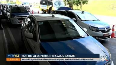 Taxistas aprovam alteração na lei para retirada da taxa de retorno - A medida é válida pros taxistas do aeroporto Afonso Pena, mas tem que avisar antes de pedir o taxi por que a lei ainda não foi alterada