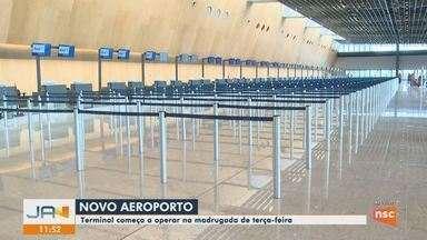 Novo aeroporto de Florianópolis começa a funcionar a partir desta terça-feira (1º) - Novo aeroporto de Florianópolis começa a funcionar a partir desta terça-feira (1º)