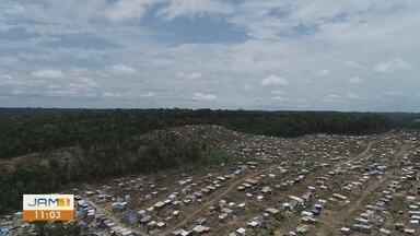 Aumento de área invadida oferece perigo à Reserva Adolpho Ducke, em Manaus - Prefeito conversa com moradores da comunidade Monte Horebe sobre avanço à APA.