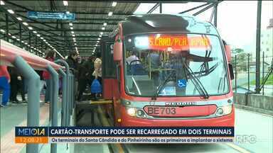 Cartão-transporte pode ser recarregado em dois terminais - Os terminais do Santa Cândida e do Pinheirinho são os primeiros a implantar o sistema.