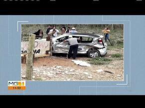 Homem morre em acidente na BR-116, em Caratinga - De acordo com a PRF, motorista, de 51 anos, foi atingido por uma carreta durante manobra irregular.