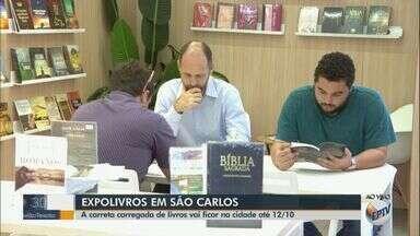 Expolivro em São Carlos tem mais de cinco mil livros - Carreta ficará na praça do Mercado até 12 de outubro.