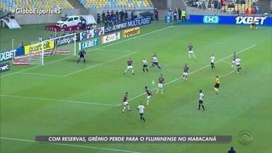 Com reservas, Grêmio perde para o Fluminense no Maracanã - Assista ao vídeo.