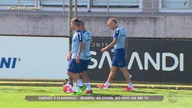 Grêmio inicia preparação para jogo contra o Flamengo pela Libertadores - Assista ao vídeo.