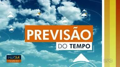 Segunda-feira (30) com possibilidade de chuva apenas no litoral e serra do mar paranaense - Em Londrina, a máxima chega aos 30 graus.