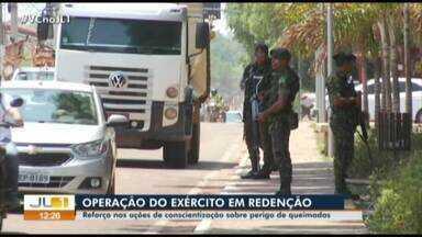 Exército realiza operação contra queimadas em Redenção - Exército realiza operação contra queimadas em Redenção