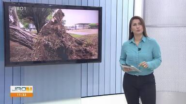 Homem morre com suspeita de descarga elétrica em Ariquemes - Forte chuva atingiu o município no fim de semana.