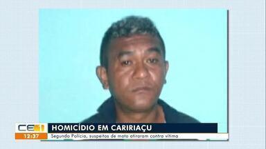 Homicídio em Caririaçu; Homicídio em Acopiara - Saiba mais no g1.com.br/ce
