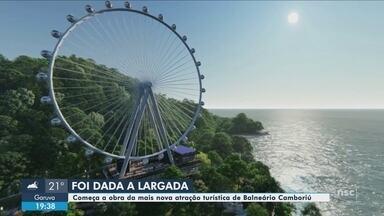 Obras da roda-gigante de Balneário Camboriú começam nesta segunda-feira - Obras da roda-gigante de Balneário Camboriú começam nesta segunda-feira