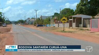Condições da Rodovia PA-370 Santarém-Curuá-Una é tema de seminário na comunidade Jacamim - Comunitários, autoridades e órgãos de segurança se reuniram nesta segunda-feira (30) para discutir sobre as condições da rodovia. '