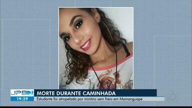 JPB2JP: Estudante foi atropelada por minitrio sem freio em Mamanguape - Morte durante caminhada religiosa.