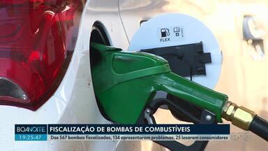IPEM reprova 25 bombas de combustíveis em Londrina - Fiscalização do mês de setembro terminou com cerca de 5% das bombas reprovadas